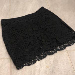 Aritzia Talula Lace Black Skirt Size 0